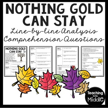 Nothing Gold Can Stay by Robert Frost Analysis Worksheet, Poetry