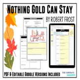 """Poetry Lesson: """"Nothing Gold Can Stay"""" by Robert Frost   DISTANCE LEARNING"""