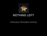 Nothing Left: Holocaust Simulation Activity/Intro To Anne Frank's Diary