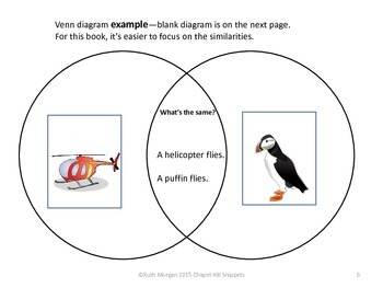Nothing Like a Puffin--Compare/Contrast Literacy Packet