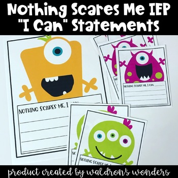 """Nothing Scares Me, Monster Themed, """"I Can"""" Statements"""