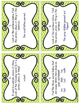Nouns Task Cards (CC Aligned)