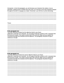 Nothing but the Truth Essay and Graphic Organizer