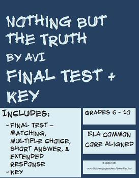 Nothing but the Truth Final Test (Complement to Packet, Found in Bundle)