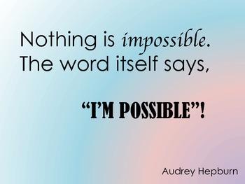 Classroom Quote - Audrey Hepburn