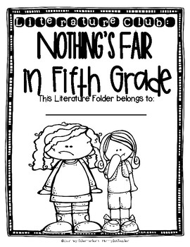 Nothing's Fair in Fifth Grade Comprehensive Novel Study