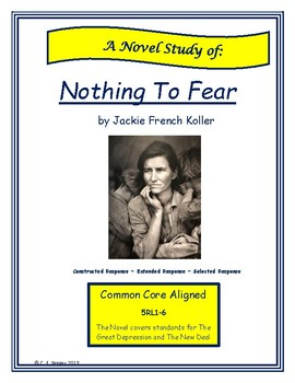 Nothing to Fear by Jackie French Koller Novel Study (Reader's Guide)
