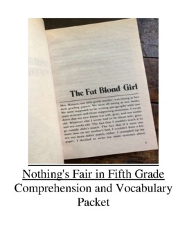 Nothing's Fair in Fifth Grade Guided Reading Unit Level R