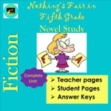 Nothing's Fair in Fifth Grade Literature Study Unit Distance Learning