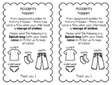 Notice - Accidents Happen - Change of Clothes