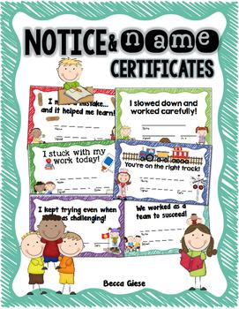 Notice & Name {Certificates}