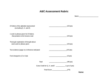 Notice & Note ABC Assessment