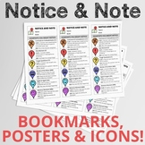 Notice & Note Bundle: Bookmarks, Posters, and Icons