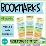 Notice & Note Close Reading Student Bookmarks