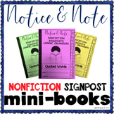 Notice and Note NONFICTION Signposts Mini Books