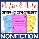 Notice & Note NONFICTION Signpost Graphic Organizers - Clo
