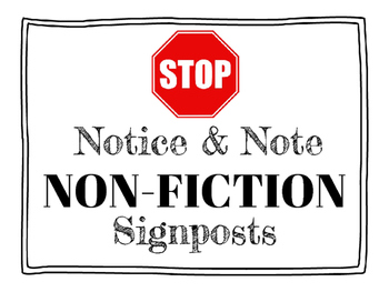 Notice & Note Non-Fiction Sign