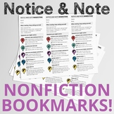 Notice & Note Nonfiction Bookmarks
