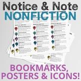 Notice & Note Nonfiction Bundle: Bookmarks, Posters, & Icons