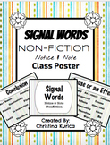 Notice & Note: Nonfiction SIGNAL WORDS POSTERS