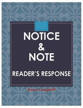 Notice & Note Reader's Response