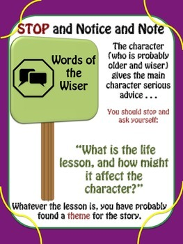 Notice & Note: Sign Post Chart Posters