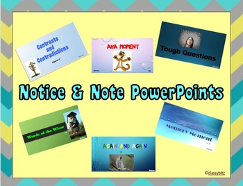 Notice & Note Sign Posts Power Points