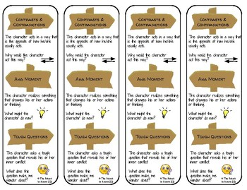 Notice & Note Signpost Bookmarks (Fiction)