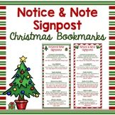 Notice & Note Signpost Christmas Bookmarks