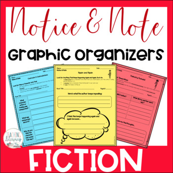 Notice & Note Fiction Signpost Graphic Organizers - Close Reading - No Prep!