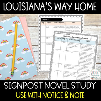 Louisiana's Way Home NOTICE AND NOTE Signposts Novel Study
