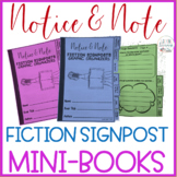 Notice & Note Fiction Signposts -8 INTERACTIVE NOTEBOOK MINI-BOOKS-Close Reading