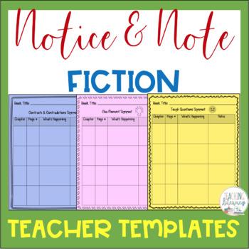 notice note fiction signpost teacher planning templates close