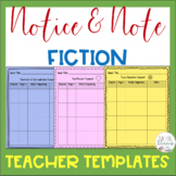 Notice & Note Fiction Signpost Teacher Planning Templates - Close Reading