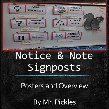 Notice & Note Signposts (with posters)  FREE!