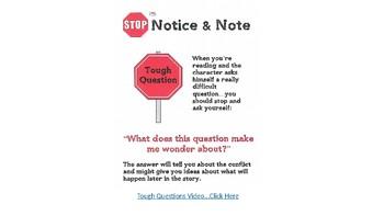 Notice & Note - Tough Questions Lesson