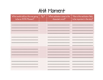 Notice & Notes for readers notebook