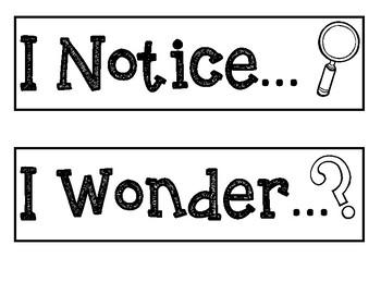 Notice/Wonder Chart Headers