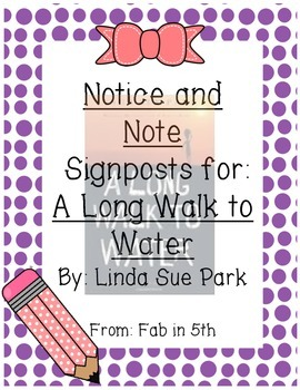 Notice and Note: A Long Walk to Water