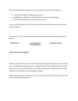 Notice and Note Activity or Assessment