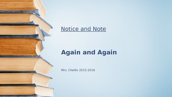 Notice and Note Again and Again