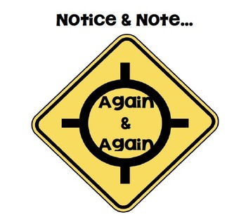 Notice and Note Again and Again Anchor Chart
