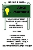 Notice and Note Aha! Moment Anchor Chart