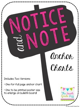 Notice and Note: Anchor Charts