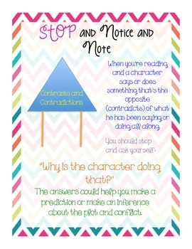Notice and Note Anchor Charts-Chevron