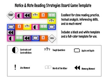 Notice and Note Board Game Templates