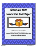 Notice and Note Close Reading Book Report Bundle (Fiction and Nonfiction)