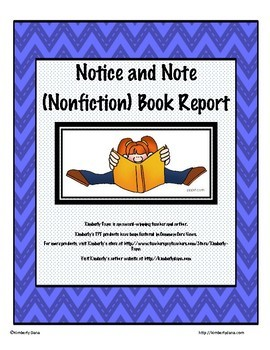 Notice and Note Close Reading Book Report Bundle (Fiction
