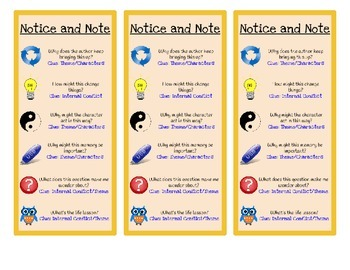 Notice and Note Bookmark