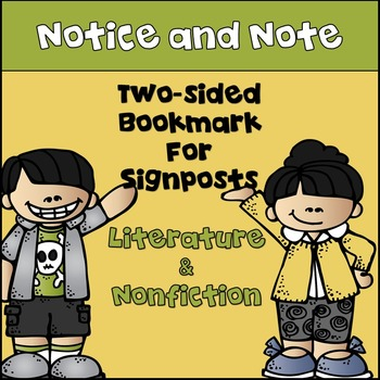 Notice and Note! Bookmark for Signposts for Literature & I